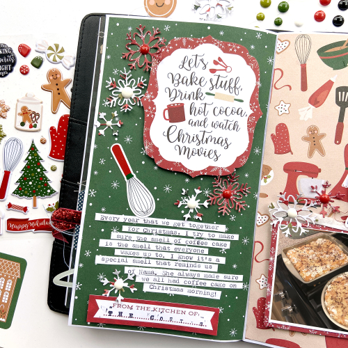 "Travelers Notebook Pages by Lydia Cost featuring the ""A Gingerbread Christmas"" Collection by #EchoParkPaper"