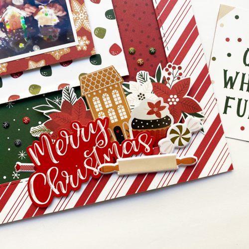 "A Merry Christmas layout by Dorymar Perez for #EchoParkPaper featuring the ""A Gingerbread Christmas"" Collection"