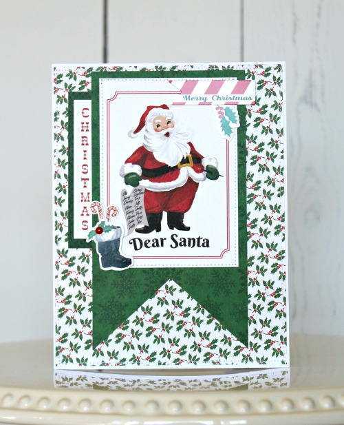 """Dear Santa"" Christmas Cards by Michelle Gallant for #CartaBellaPaper"