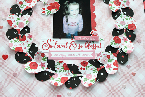 "Valentine Layout by Michelle Gallant for #EchoParkPaper featuring the ""Cupid & Co."" Collection"