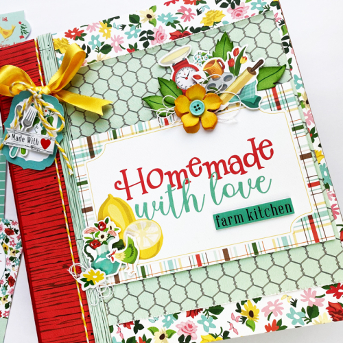 "Homemade with Love Mini Album by Dorymar Perez for #CartaBellaPaper featuring the ""Farm to Table"" collection"