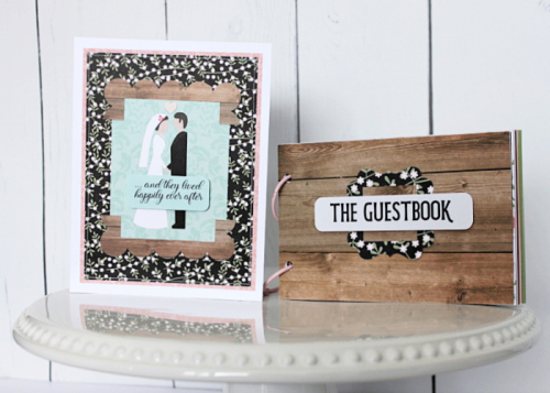 "Wedding guest book and card set by Michelle Gallant for #EchoParkPaper featuring the ""Our Wedding"" Collection."