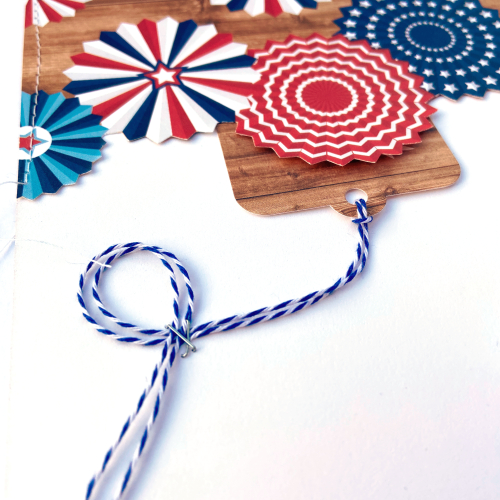 """""""America"""" collection - 4th of July Fun layout and sketch by Lydia Cost for #EchoParkPaper"""