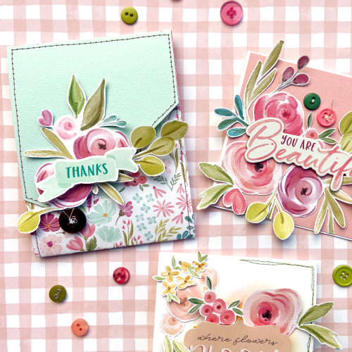 "Floral card set by Lydia Cost for #CartaBellaPaper featuring the ""Flora No. 3"" Collection!"