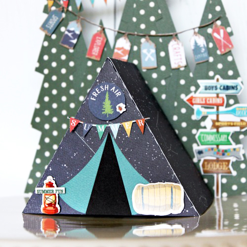 "Tent Box by Michelle Gallant with the ""Summer Camp"" collection from #CartaBellaPaper"