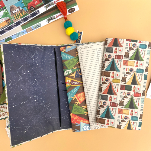Summer Camp Travelers Notebook by Lyidia Cost for #CartaBellaPaper