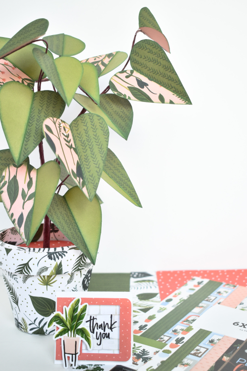 "Paper Philodendron by Michelle Zerull featuring the ""Plant Lady"" collection from #EchoParkPaper"