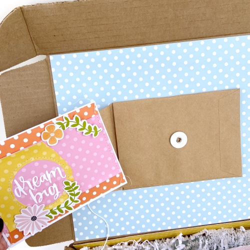 Dots and Stripes Care Package and Card by Lydia Cost for #EchoParkPaper