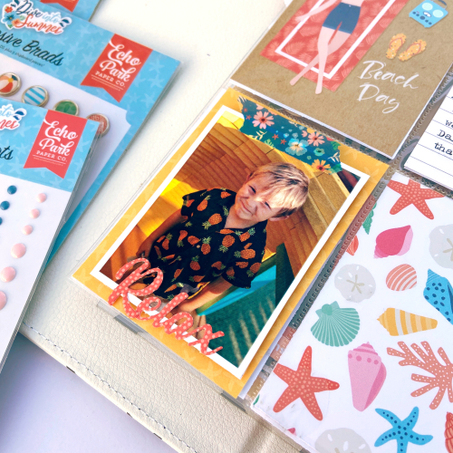 Dive Into Summer Pocket Pages by Lydia Cost for #EchoParkPaper