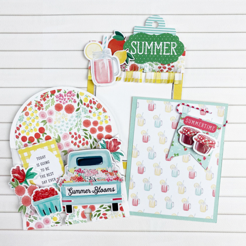 "Happy Summer Memory Dex project by Dorymar Perez for #CartaBellaPaper featuring the ""Summer Market"" collection"