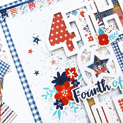 """4th of July layout by Dorymar Perez with the """"America"""" collection by #EchoParkPaper"""