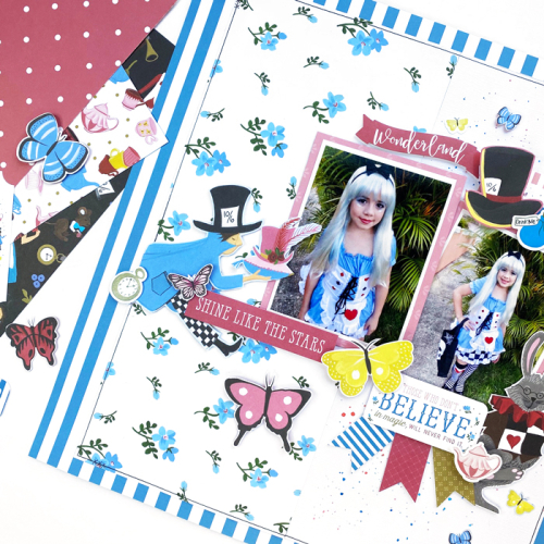 Alice In Wonderland layout by Dorymar Perez for #EchoParkPaper