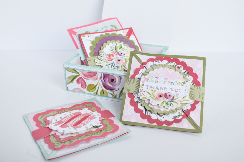 "Stationery Set featuring the ""Flora No 3"" collection from #CartaBellaPaper - project by Michelle Zerull"