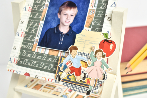 School Days Easel Photo Display by Michelle Zerull for #CartaBellaPaper