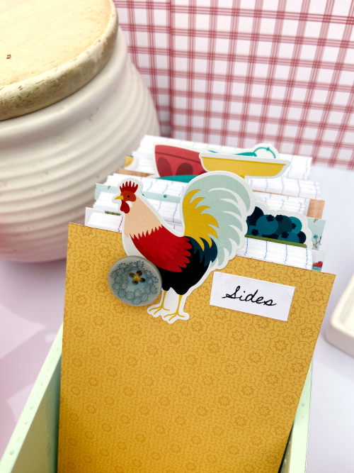 """Recipe Box by Lydia Cost for #EchoParkPaper featuring the """"Farmhouse Kitchen"""" collection"""
