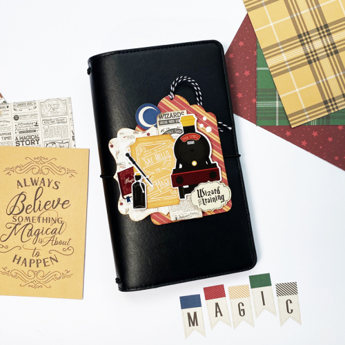 "Travelers Notebook by Dorymar Perez featuring the ""Witches & Wizards"" Collection by #EchoParkPaper"