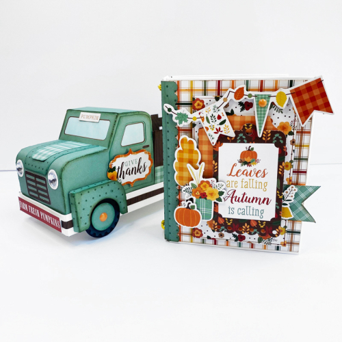 """Happy Fall"" 3D Truck and Mini Album Set by Dorymar Perez for #EchoParkPaper"