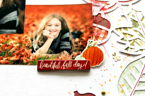 "Fall Day Layout by Michelle Gallant for #CartaBellaPaper featuring the ""Hello Autumn"" collection"