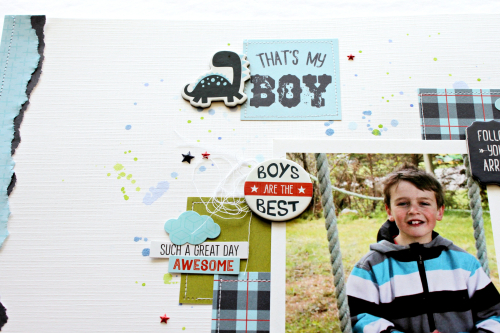 Michelle Gallant - That's my boy - layout - photo 4