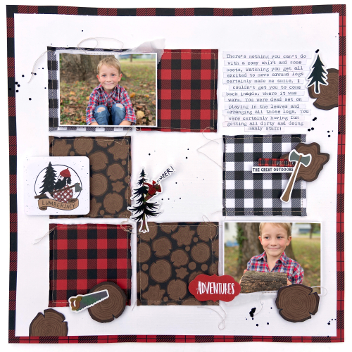 Let's Lumberjack layout by Lydia Cost for #EchoParkPaper