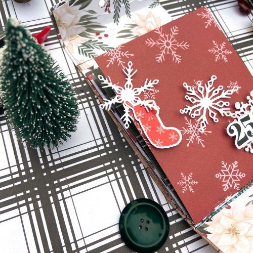 Farmhouse Christmas mini album by Lydia Cost for #CartaBellaPaper
