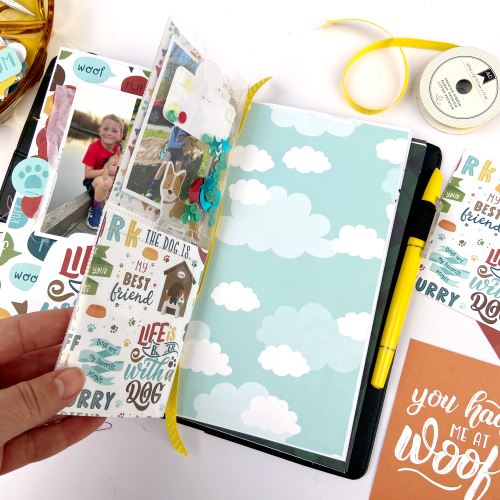 "Travelers Notebook Pages by Lydia Cost featuring the ""My Dog"" collection by #EchoParkPaper"