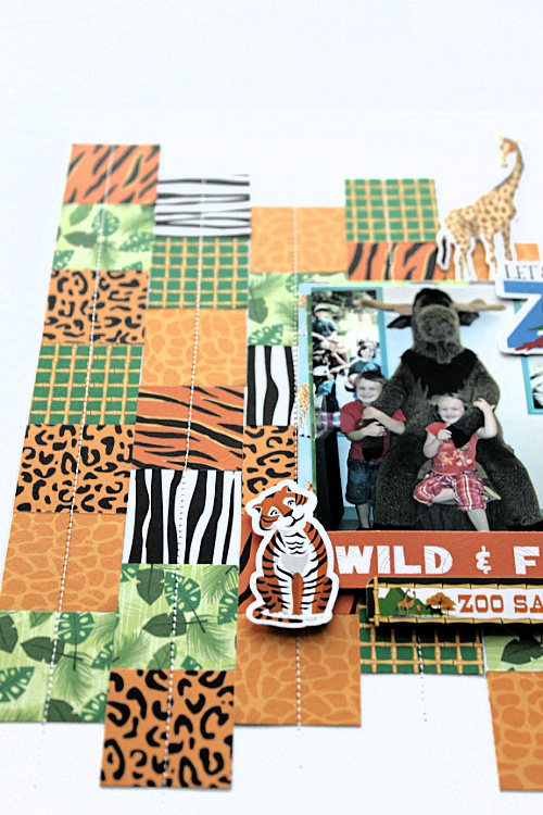 "Let's go to the zoo layout by Michelle Gallant featuring the ""Zoo Adventures"" collection by #CartaBellaPaper"
