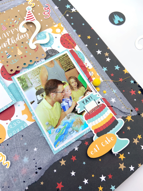"Birthday Layout by Lydia Cost for #EchoParkPaper featuring the ""Magical Birthday Boy"" Collection"