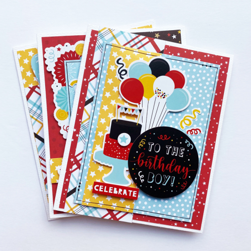 "Birthday Cards by Dorymar Perez for #EchoParkPaper featuring the ""Magical Birthday Boy"" Collection"