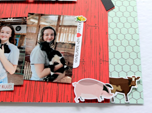 "Farm Fresh layout by Michelle Gallant for #CartaBellaPaper featuring the ""Farm to Table"" Collection"