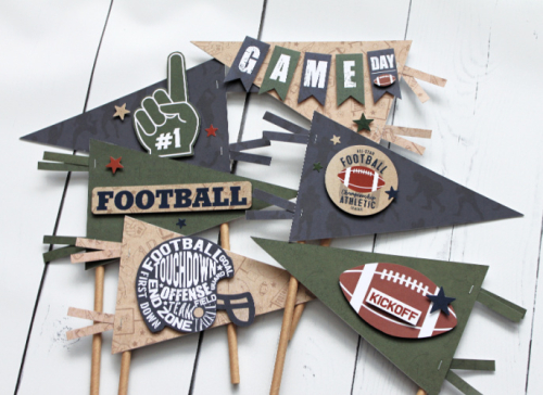 Football Pennants by Michelle Gallant for #EchoParkPaper