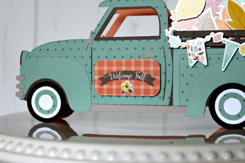 "3D Farm Truck Decor by Michelle Gallant featuring the ""Happy Fall"" collection by #EchoParkPaper"