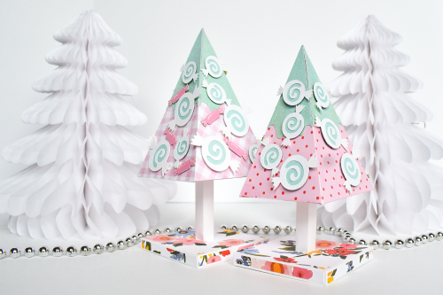 "Designer Challenge Week: Use a Themed Collection to create a non-themed project - Sugar Plum Trees by Michelle Zerull with the ""Oh Happy Day"" Collection for #EchoParkPaper and #CartaBellaPaper"