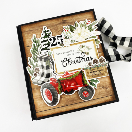 "Holiday Barn and Mini Album by Dorymar Perez featuring the ""Farmhouse Christmas"" collection by #CartaBellaPaper"