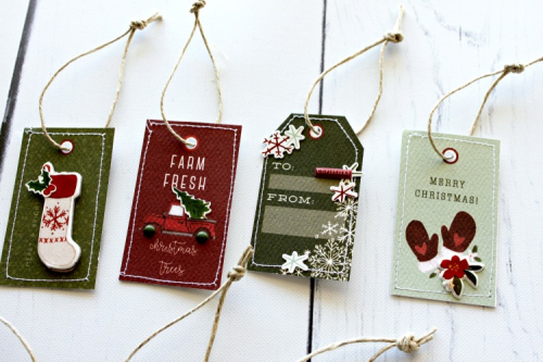 "Christmas Tag Set by Michelle Gallant featuring the ""Hello Christmas"" collection by #CartaBellaPaper"