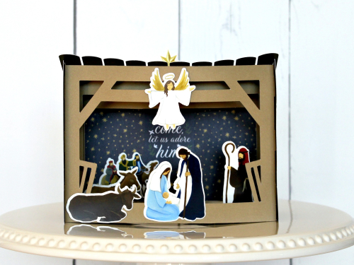 """""""Silent Night"""" nativity by Michelle Gallant for #EchoParkPaper"""