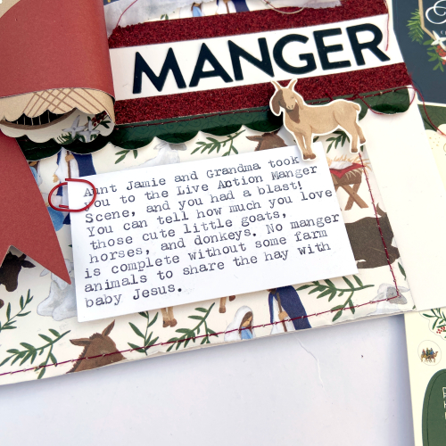 """Manger Visit Layout by Lydia Cost for #EchoParkPaper featuring the """"Silent Night"""" collection"""