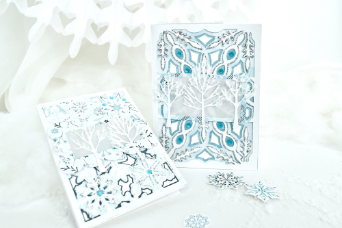 """Winter Magic"" card set by Michelle Zerull for #EchoParkPaper"