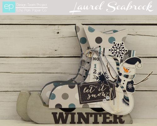 Winter Wooden Ice Skates by Laurel Seabrook