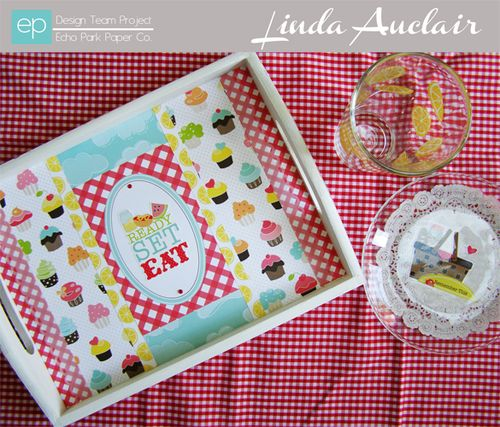 Altered Tray by Linda Auclair