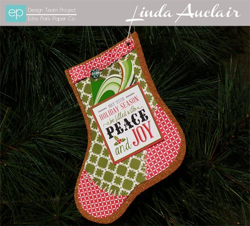 Die Cut Stocking by Linda Auclair