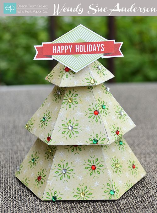 Die Cut Christmas Tree by Wendy Sue Anderson