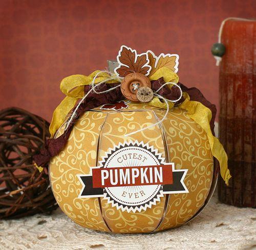 Die Cut Pumpkin by Tamara Tripodi