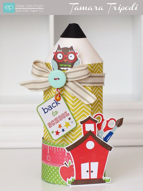 Back to School Pencil Box by Tamara Tripodi