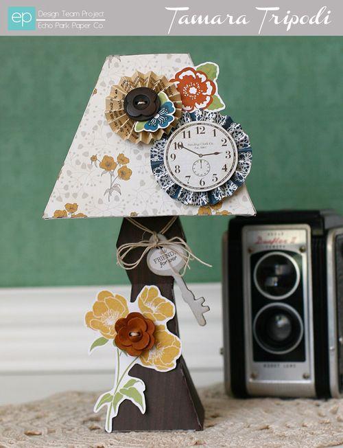 Die Cut Table Lamp by Tamara Tripodi