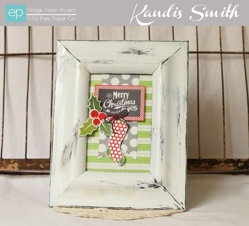 Merry Christmas Frame by Kandis Smith