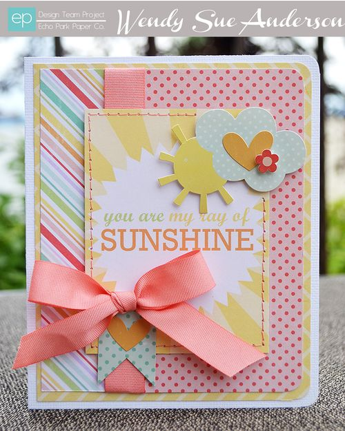 Cards: Sunshine Card by Wendy Sue Anderson
